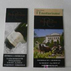 Catálogos publicitarios: CATALOGO Y TRIPTICO CAVES PAGES ENTRENA. Lote 20127933