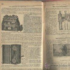 Catálogos publicitarios: RECORTE DE PRENSA. AÑO 1902. STEREOSPIDOS GAUMONT.FOTOGRAFIA.CAMARAS FOTOGRAFICAS.ALICANTE.. Lote 20185989