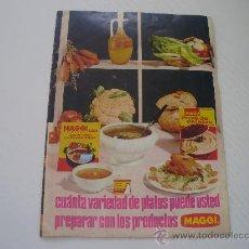 Catálogos publicitários: FOLLETO DE SOPAS MAGGI - RECETARIO - GASTRONOMIA - AÑOS 60. Lote 26198915