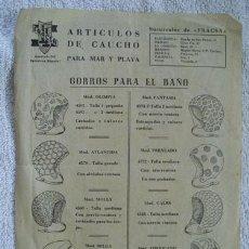 Catálogos publicitarios: CATÁLOGO: GORROS PARA EL BAÑO, SALVAVIDAS Y FLOTADORES - FRACSA. Lote 56739607