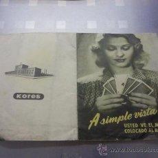 Catálogos publicitarios: ANTIGUO CATALOGO PUBLICITARIO INDUSTRIAS KORES PAPEL CARBOPLAN. Lote 27062376