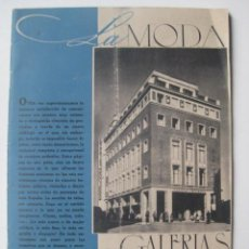 Catálogos publicitarios: LA MODA EN GALERIAS PRECIADOS, OTOÑO-INVIERNO DE 1944. Lote 26811006