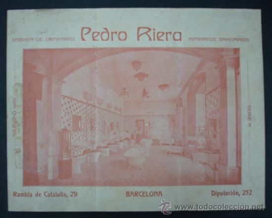 PEDRO RIERA. FÁBRICA DE LÁMPARAS DE TODAS CLASES, APARATOS SANITARIOS. 1910. MUY ILUSTRADO. (Coleccionismo - Catálogos Publicitarios)
