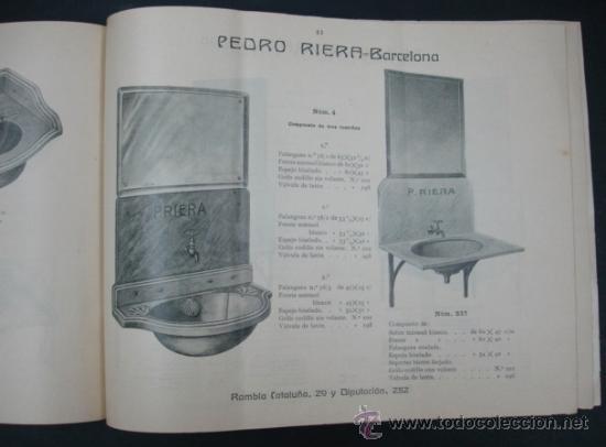 Catálogos publicitarios: PEDRO RIERA. FÁBRICA DE LÁMPARAS DE TODAS CLASES, APARATOS SANITARIOS. 1910. MUY ILUSTRADO. - Foto 9 - 22201028