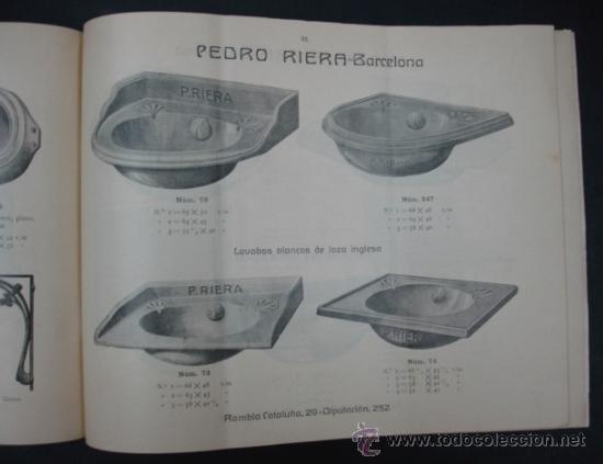 Catálogos publicitarios: PEDRO RIERA. FÁBRICA DE LÁMPARAS DE TODAS CLASES, APARATOS SANITARIOS. 1910. MUY ILUSTRADO. - Foto 8 - 22201028