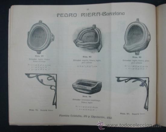 Catálogos publicitarios: PEDRO RIERA. FÁBRICA DE LÁMPARAS DE TODAS CLASES, APARATOS SANITARIOS. 1910. MUY ILUSTRADO. - Foto 7 - 22201028