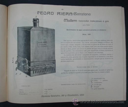 Catálogos publicitarios: PEDRO RIERA. FÁBRICA DE LÁMPARAS DE TODAS CLASES, APARATOS SANITARIOS. 1910. MUY ILUSTRADO. - Foto 6 - 22201028