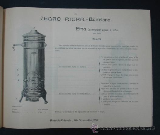 Catálogos publicitarios: PEDRO RIERA. FÁBRICA DE LÁMPARAS DE TODAS CLASES, APARATOS SANITARIOS. 1910. MUY ILUSTRADO. - Foto 5 - 22201028