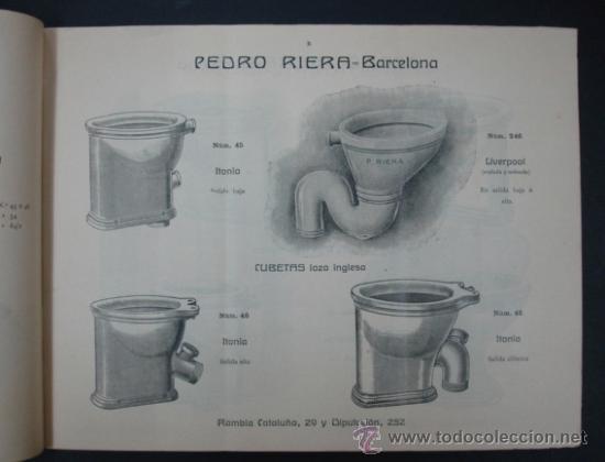 Catálogos publicitarios: PEDRO RIERA. FÁBRICA DE LÁMPARAS DE TODAS CLASES, APARATOS SANITARIOS. 1910. MUY ILUSTRADO. - Foto 3 - 22201028
