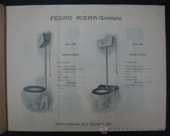 Catálogos publicitarios: PEDRO RIERA. FÁBRICA DE LÁMPARAS DE TODAS CLASES, APARATOS SANITARIOS. 1910. MUY ILUSTRADO. - Foto 2 - 22201028