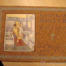 Catálogos publicitarios: CATALOGO DE BAÑERAS RISTER -MAJESTIC.-TALLERES ROCA SA-GAVÁ -BARCELONA. Lote 25550443