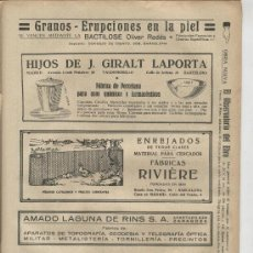 Catálogos publicitarios: RECORTE DE PRENSA. PUBLICIDAD.AÑO 1928. CERAMICA.GIRALT LAPORTA.BACTILOSE. OLIVER RODES. . Lote 22301672