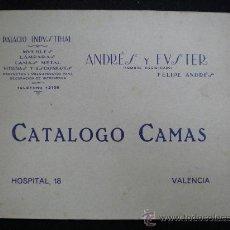 Catálogos publicitarios: CATÁLOGO PUBLICITARIO. ANDRÉS Y FUSTER. CATÁLOGO CAMAS. VALENCIA. AÑOS 20.. Lote 22701784