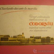 Catálogos publicitarios: FOLLETO PUBLICIDAD CAVAS CODORNIU . Lote 23682999
