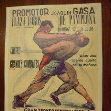 Catálogos publicitarios: CARTEL DE PUBLICIDAD PROMOTOR JOAQUIN GASA PLAZA DE TORROS DE PAMPLONA MEDIDAS 30 X 40 CM REPRODUCCI. Lote 135049185