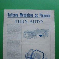 Catálogos publicitarios - TALLERES MECANICOS DE PINEROLO TURN - AUTO - 26822702