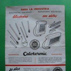 Catálogos publicitarios: ELECTRO-MICA BRU CALEFACCION ELECTRICA. Lote 26975369