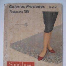 Catálogos publicitarios: PRECIOSO CATALOGO DE GALERIAS PRECIADOS, MADRID - PRIMAVERA 1960. Lote 27416976