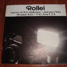 Catálogos publicitarios: 7 CATALOGOS MANUALES DE ROLLEI, MAMIYA, CANON FT, VITESSA 500S, FILTROS VOIGTLANDER, ZEISS IKON. Lote 26296584