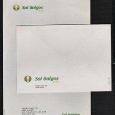 Catálogos publicitarios: SOBRE Y PAPEL DE CARTA - HOTEL SOL GALGOS - MADRID - PUBLICITARIO - 1 SOBRE / 1 HOJA - AÑOS 80. Lote 24036475