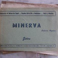 Catálogos publicitarios: CATALOGO-MUESTRARIO DE MINERVA,INDUSTRIA PAPELERA.JATIVA,VALENCIA.VER FOTO ADICIONAL.. Lote 24040859