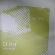Catálogos publicitarios: CATALOGO DE FORMACIÓN INFORMATICA CREA FORMACIÓN. Lote 24706389