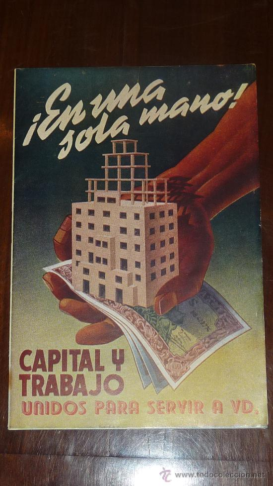 ANTIGUO CATALOGO PUBLICITARIO DE CONSTRUCCION. CAPITAL Y TRABAJO. (Coleccionismo - Catálogos Publicitarios)