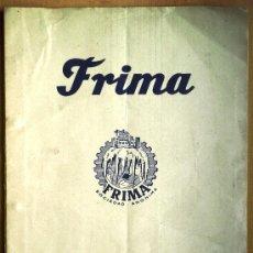 Catálogos publicitarios: FRIMA MAQUINARIA FRIGORÍFICA Y MATERIALES BARCELONA OFERTA CON CATÁLOGO DE SUS PRODUCTOS - AÑO 1960. Lote 24735976