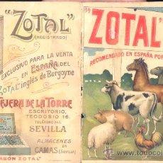 Catálogos publicitarios: FOLLETO PUBLICITARIO DE .-ZOTAL INGLÉS.- 12 PÁGINAS. Lote 24955604