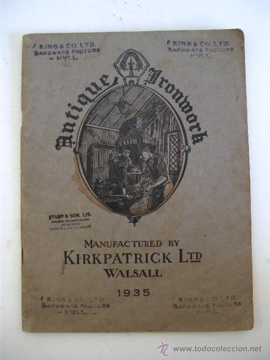 Usado, catalogo ingles de herrajes antiguos fabricados por kirkpatrick ltd walsall, 1935 segunda mano