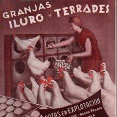 Catálogos publicitarios: ANTIGUA PUBLICIDAD - DIPTICO - GRANJAS ILURO Y TERRADES - MATARÓ . Lote 45287645