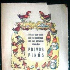 Catálogos publicitarios: (VR194) HOJA PUBLICITARIA POLVOS PINÓS. Lote 26692059