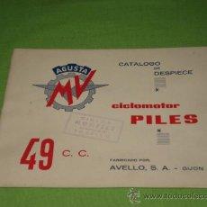 Catálogos publicitarios: CATALOGO DESPIECE ,DE MV PILES 49, ORIGINAL DE 16 HOJAS.. Lote 60813874