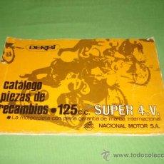 Catálogos publicitarios: CATALOGO PIEZAS RECAMBIO DERBI 125 SUPER, DE 1968, 35 FOLIOS APROX. 30X20. Lote 113631727