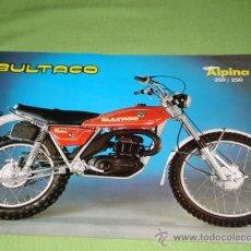 Catálogos publicitarios: CATALOGO BULTACO ALPINA ORIGINAL, MODELOS 212 Y 213.. Lote 28206243