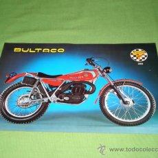 Catálogos publicitarios: FOLLETO A DOS CARAS DE BULTACO SHERPA MOD 199, ORIGINAL.. Lote 28206272