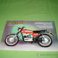 Catálogos publicitarios: CATALOGO TIPO FOLLETO DE BULTACO MERCURIO 175 GT, MODELO 175 ORIGINAL.. Lote 28206320