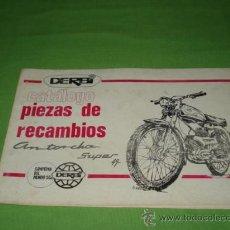 Catálogos publicitarios: CATALOGO DERBI PIEZAS DE RECAMBIO ANTORCHA SUPER 49. ORIGINAL.. Lote 28206725