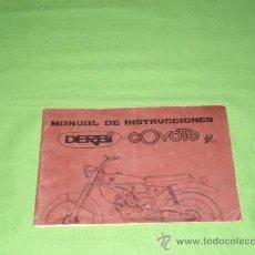 Catálogos publicitarios: CATALOGO DERBI COYOTE, DE 25 PAG, MEDIDAS 14 X 12 APROX.. Lote 28656402