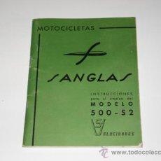 Catálogos publicitarios: CATALOGO MOTO SANGLAS 500-S2 5 V. Lote 28656457