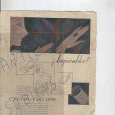 Catálogos publicitarios - RECORTE DE PRENSA. AÑO 1918. PUBLICIDAD. CREMA CALBER. PERFUMERIA HIGIENICA CALBER. SAN SEBASTIAN. - 26046880