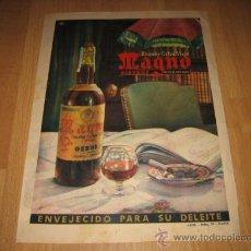 Catálogos publicitarios: BRANDY EXTRA VIEJO MAGNO OSBORNE PUBLICIDAD HOJA DE REVISTA 1957 . Lote 26532719