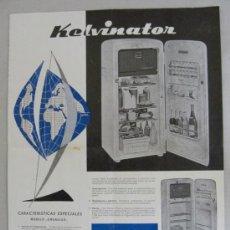 Catálogos publicitarios: FOLLETO PUBLICITARIO FRIGORIFICO KELVINATOR AÑOS 60 . Lote 26773773