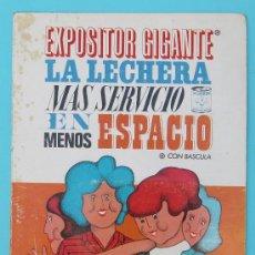 Catálogos publicitarios: DISPLAY EXPLICATIVO PARA DETALLISTAS DEL EXPOSITOR GIGANTE LA LECHERA. NESTLÉ. AÑOS 60.. Lote 27042882