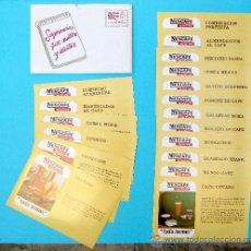 Catálogos publicitarios: SOBRE CON 18 RECETAS NESCAFÉ NUEVO TODO AROMA. CENTRO NESTLÉ DE ECONOMÍA DOMÉSTICA. AÑOS 60.. Lote 27043167