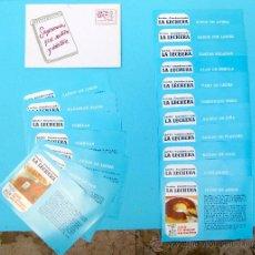Catálogos publicitarios: SOBRE CON 18 RECETAS LA LECHERA. CENTRO NESTLÉ DE ECONOMÍA DOMÉSTICA. AÑOS 60.. Lote 27043286