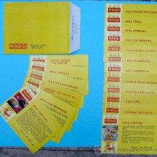 Catálogos publicitarios: SOBRE CON 18 RECETAS MAGGI. BUENA COCINA, VIDA MEJOR. MARTA DE OLMEDO. NESTLÉ. AÑOS 60.. Lote 27071298