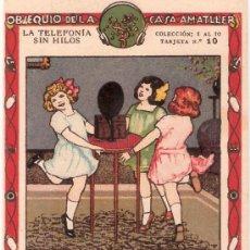 Catálogos publicitarios: CHOCOLATES AMATLLER - PUBLICIDAD-TELEFONIA SIN HILOS -10 TARJETAS- MED.7,5 X 12 CM. VER FOTOS(CR-28). Lote 27501514