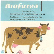 Catálogos publicitarios: ANTIGUA PUBLICIDAD LABORATORIOS BIOHORM BIOFUREA.VETERINARIA.. Lote 27648066