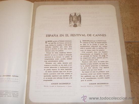 Catálogos publicitarios: CATALOGO CINE ESPAÑOL EN CANNES 1952 50 PAGINAS CON FERNANDO REY O CARMEN SEVILLA UNICO !!!!!! - Foto 2 - 27703642